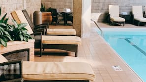 Indoor pool, open 5 AM to midnight, sun loungers