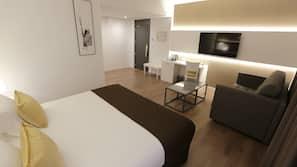 1 soverom, minibar, safe på rommet og skrivebord