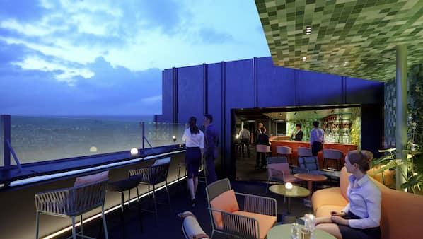 2 間酒吧/酒廊、天台酒吧