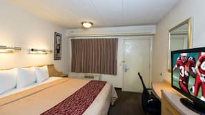 Desk, blackout drapes, free cribs/infant beds, free WiFi