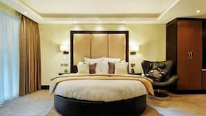Egyptiske bomuldslagner, premium-sengetøj, Select Comfort-senge, minibar