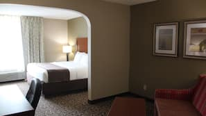 Premium bedding, laptop workspace, iron/ironing board, rollaway beds