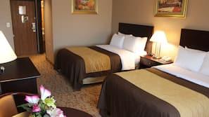 Tempur-Pedic beds, in-room safe, desk, laptop workspace