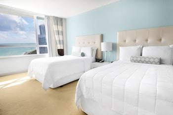Executive Room, 2 Double Beds, Partial Ocean View  - Guestroom