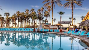 2 outdoor pools, open 8:00 AM to midnight, pool umbrellas, sun loungers