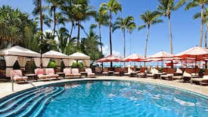 2 outdoor pools, cabanas (surcharge), pool umbrellas