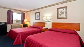In-room safe, free WiFi, bed sheets, alarm clocks