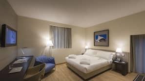 Premium bedding, down duvet, memory foam beds, minibar