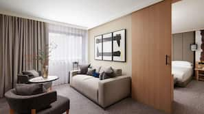 Egyptian cotton sheets, premium bedding, minibar, in-room safe