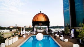 Indoor pool, outdoor pool, open 8:00 AM to 10:00 PM, sun loungers