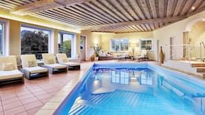 Indoor pool, seasonal outdoor pool, open 8 AM to 8 PM, free pool cabanas