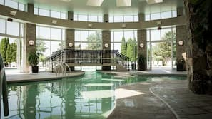 Indoor pool, seasonal outdoor pool, free pool cabanas, pool loungers