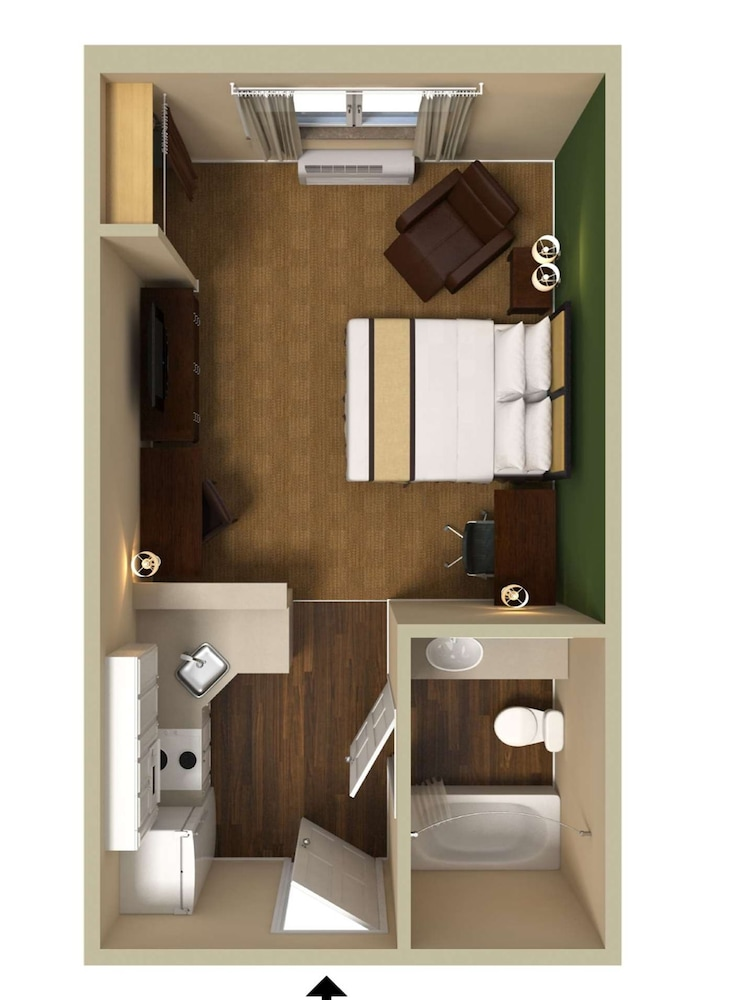 Floor plan, Extended Stay America Frederick - Westview Drive