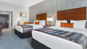 Premium bedding, pillowtop beds, in-room safe, blackout drapes