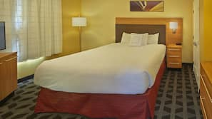 Premium bedding, pillowtop beds, blackout drapes, iron/ironing board