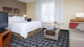 Pillowtop beds, in-room safe, desk, iron/ironing board