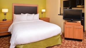 Hypo-allergenic bedding, desk, iron/ironing board