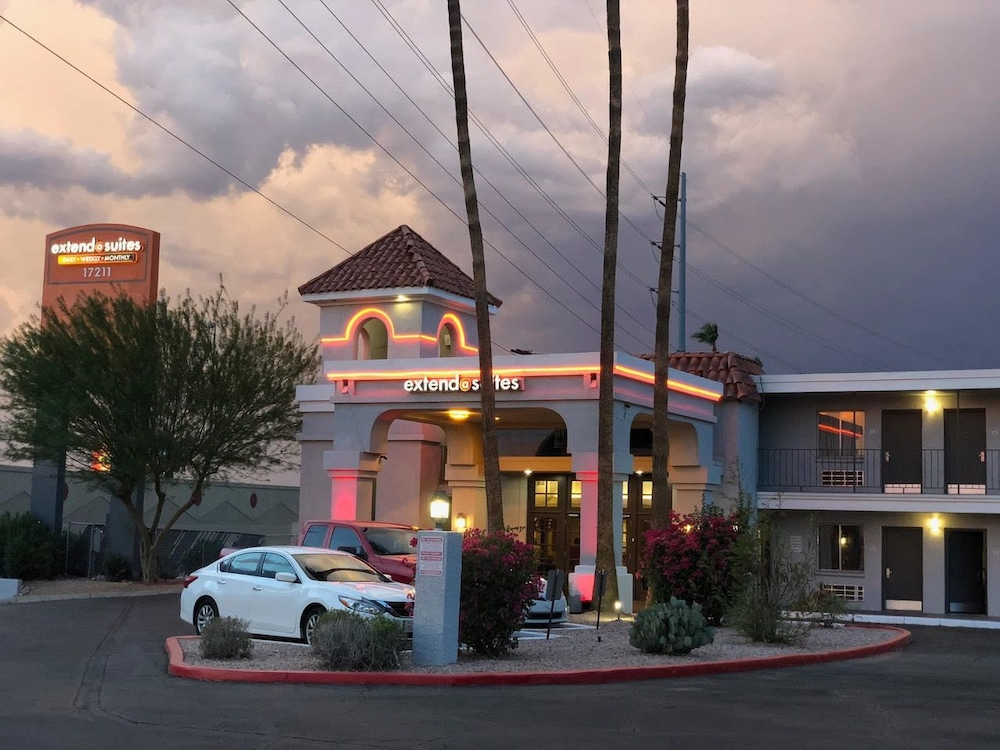 Front of Property - Evening/Night, Extend-a-Suites Phoenix