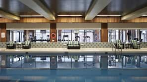 Indoor pool, open 5:30 AM to 10:30 PM, pool loungers