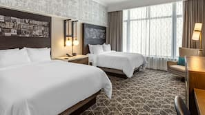 Egyptian cotton sheets, premium bedding, pillowtop beds, in-room safe