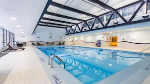 Indoor pool, open 6:00 AM to 9:00 PM, sun loungers