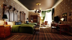 客房内保险箱、办公桌、遮光窗帘、熨斗/熨衣板