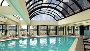 Indoor pool, outdoor pool, open 10:00 AM to 8:00 PM, free cabanas