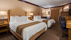 Premium bedding, pillow top beds, in-room safe, individually decorated