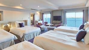 Hypo-allergenic bedding, down comforters, memory foam beds, desk