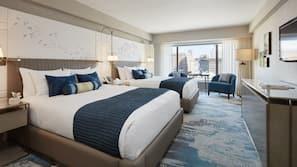 Premium-sengetøj, dundyner, senge med topmadrasser, minibar