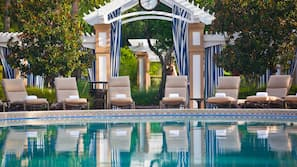 Outdoor pool, open 6:30 AM to 11:00 PM, free cabanas, pool umbrellas