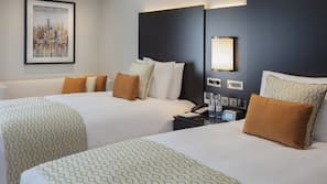 Premium bedding, free minibar items, in-room safe