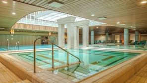 3 indoor pools, lifeguards on site