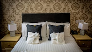 Hypo-allergenic bedding, individually decorated, individually furnished