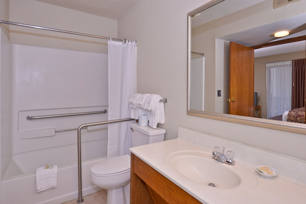 Bathroom, Arbor Suites at the Mall