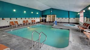 Indoor pool, open 9 AM to 10 PM, sun loungers