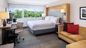 Premium bedding, down duvets, Tempur-Pedic beds, desk
