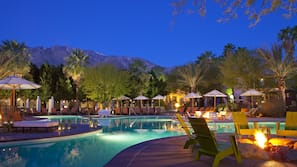 2 outdoor pools, open 6:30 AM to 10:00 PM, pool cabanas (surcharge)