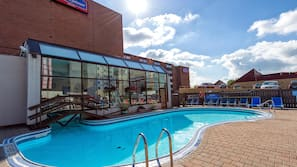 Indoor pool, outdoor pool, open 8:00 AM to 11:00 PM, sun loungers
