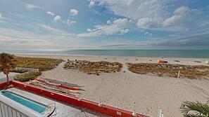 On the beach, kayaking, fishing