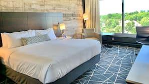 Premium bedding, pillowtop beds, desk, soundproofing