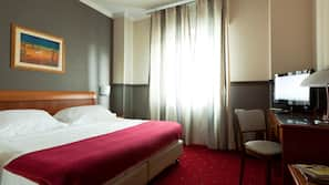Down duvets, minibar, in-room safe, soundproofing