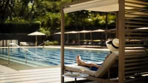 室外泳池;07:00 至 21:00 開放;免費小屋、泳池傘