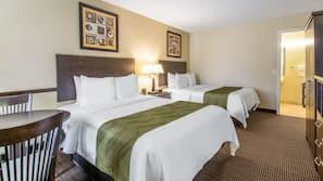 Premium bedding, down comforters, pillowtop beds, blackout drapes