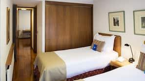 1 dormitorio, colchones con acolchado adicional, caja fuerte