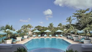 2 outdoor pools, open 7:00 AM to 7:00 PM, cabanas (surcharge)