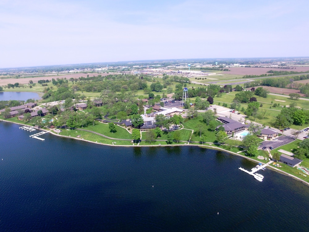 Aerial View, Lake Lawn Resort