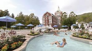 室內泳池、2 個室外泳池;小屋 (收費)、泳池傘