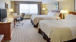 Hypo-allergenic bedding, down duvet, desk, blackout curtains