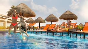 10 outdoor pools, pool cabanas (surcharge), pool umbrellas